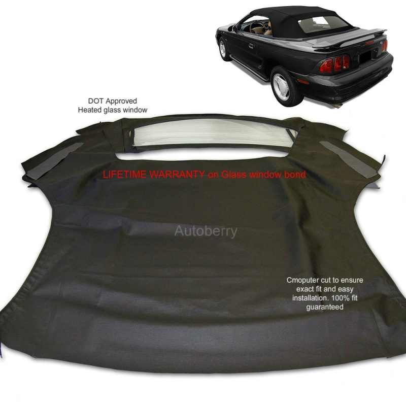 Ford Mustang Convertible Soft Top Replacement With Heated Gl Window 1994 2004