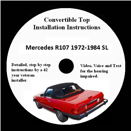 Mercedes R107 Convertible Top Installation Instructions Video