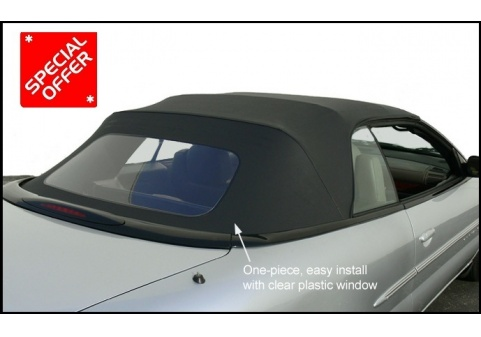 Autoberry Chrysler Sebring Convertible Top With Plastic Window One Piece Easy Install 1996 2006 Tops Seat Covers Headliners