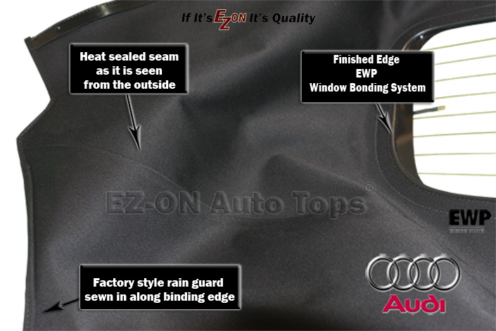 Audi tt convertible top with defroster for What is the best window brand