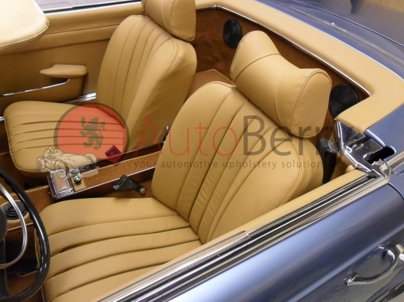 Mercedes r107 leather or mb tex vinyl for Mercedes benz car seat covers sale
